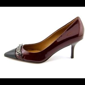 Coach Bowery Cherry & Black Pumps